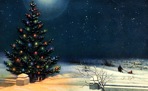 yule-tree-and-small-town-circa-1950s